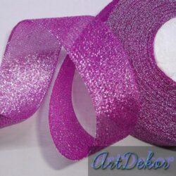 Лента парча 4 см фиолет