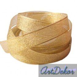 лента 2,5 см парча золото
