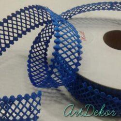 Тесьма декоративная сетка, синяя 2 см