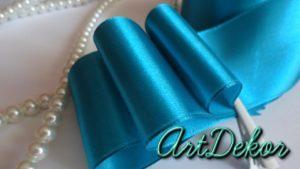 Лента атласная 5 см , канзаши, декор, рукоделия, для бантиков, обручи, для рукоделия