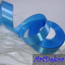 Лента с люрексом голубая 2,5 см