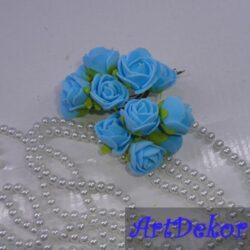 Роза 2,2-2,5 см голубого цвета