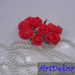 Роза 2,2 см кораллового цвета