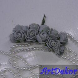 Роза 2,2-2,5 см серого цвета