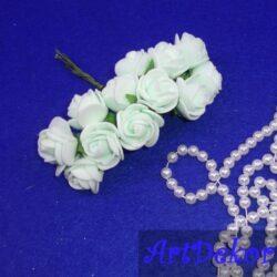 Роза 2,2-2,5 см светлый тиффани