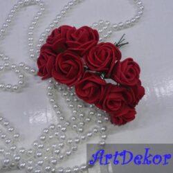 Роза 2,2-2,5 см бардового цвета