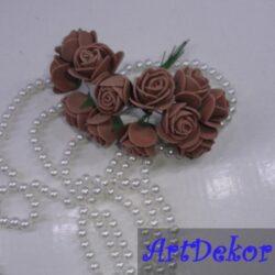 Роза 2,2-2,5 см коричневого цвета