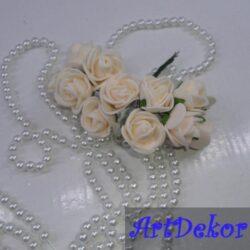 Роза 2,2-2,5 см пудра цвета