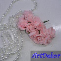 Роза 2,2-2,5 см светло - розового цвета