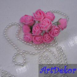 Роза 2,2-2,5 см ярко - розового цвета