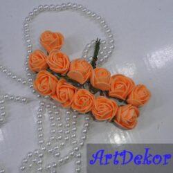 Роза 2,2-2,5 см оранжевого цвета