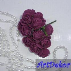 Роза с фома 2,2 -2,5 см бургунди