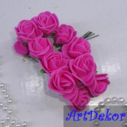 Роза с фома 2,2 -2,5 см малина