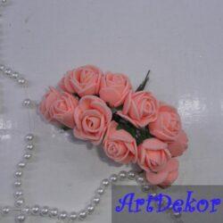 Роза с фома 2,2 -2,5 см персик