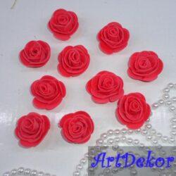 Роза 3 см коралл