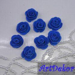 Роза 3 см синяя
