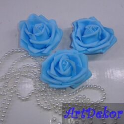 Бутон розы 7,5 см голубой