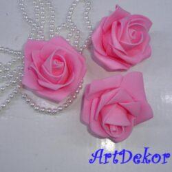 Бутон розы 5,5 см розовый