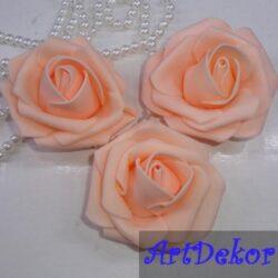 Бутон розы 5,5 см персик