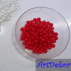 Жемчужина Красный цвет 0,6см.