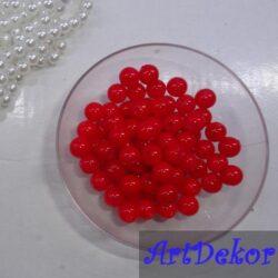 Жемчужина Красный цвет 0,8см.