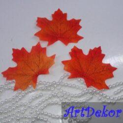 Листики клена из ткани Размер 7-8 см