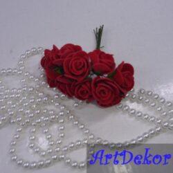 Роза 1.5 см из фоамирана, на ножке