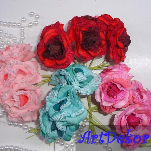 Роза тканевая