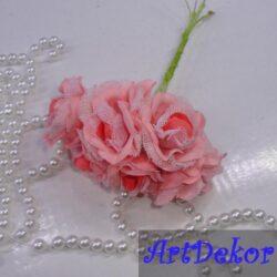 Букет роз марля персик