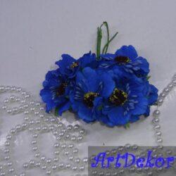 Букет дикого мака синий