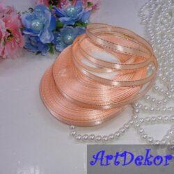 Лента с люрексом 0.6 см персикового цвета