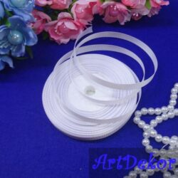 Лента репсовая 0.6 см оптом и в розницу. Для изготовления бантиков, обручей, заколок в стиле канзаши, используется для скраббукинга