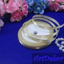 Лента атласная 0.6 см с люрексом оптом и в розницу. Для изготовления бантиков, обручей, заколок в стиле канзаши, используется для скраббукинга