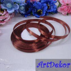 Лента атласная 0.6 см оптом и в розницу. Для изготовления бантиков, обручей, заколок в стиле канзаши, используется для скраббукинга