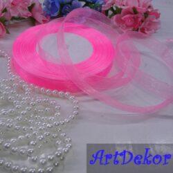 Органза 1 см розового цвета