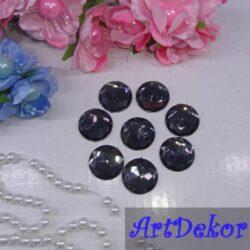 Стразы декор «круг» сапфир размером 2 см х 2 см.