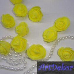 Роза 3 см желтого цвета