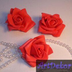 Роза из фоамирана 5.5 см красного цвета