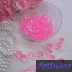 Бусины граненые розовые