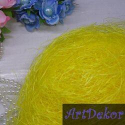 Сизаль желтого цвета