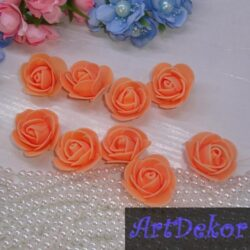 Роза из фоамирана 3 см персик