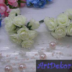 Роза 3.5 см кремового цвета из фоамирана