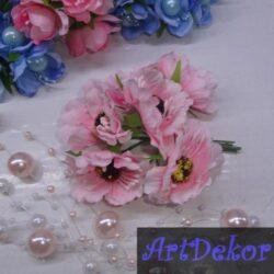 Букет дикого мака розового цвета