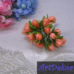 Букет тюльпанов персик