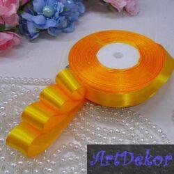лента атласная 2 см желто-гарячая