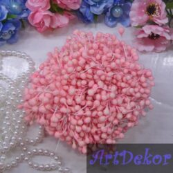 Тычинки сахарные на нитке розового цвета
