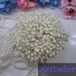 Тычинки сахарные на нитке белого цвета