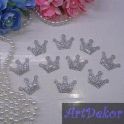 Корона из ткани серебро