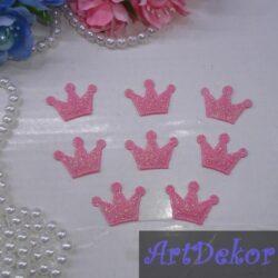 Корона из ткани розовая