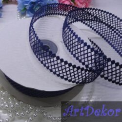 Тесьма декоративная сеточка темно синяя
